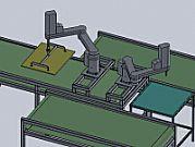 工业机器人分拣板材生产线